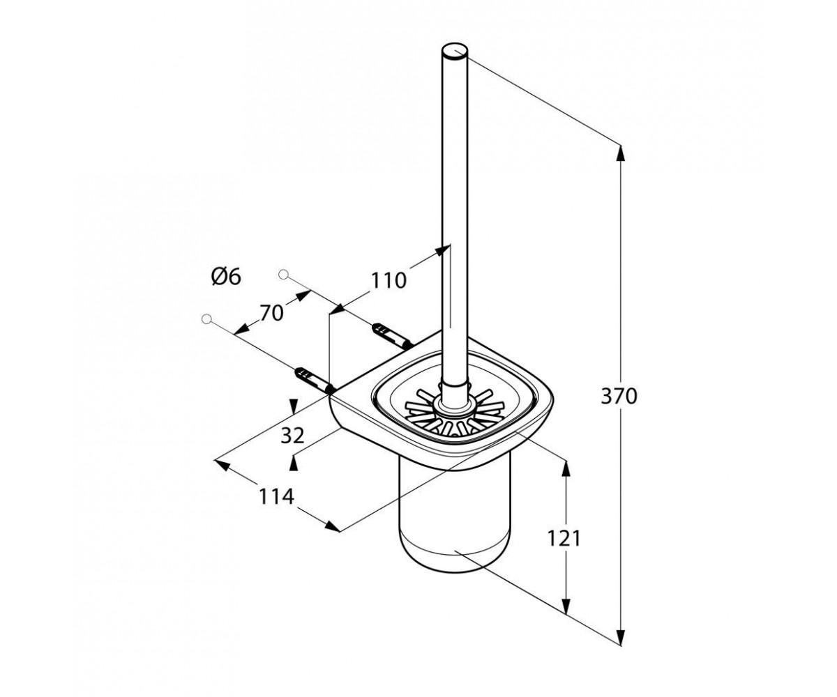 Ерш для туалета KLUDI AMBIENTA 5397405