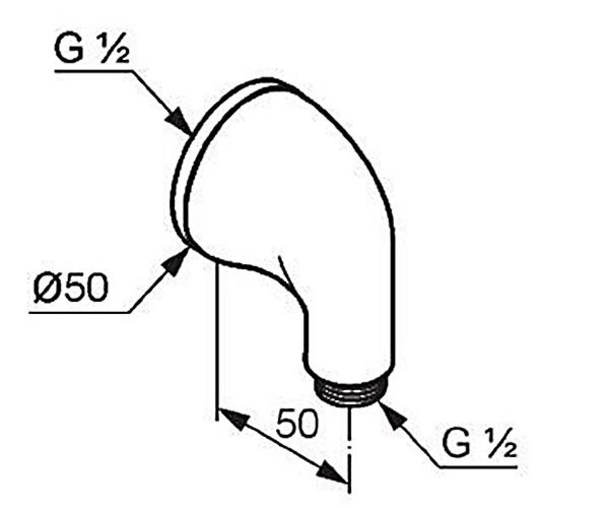 Шланговое соединение KLUDI AMPHORA 545410500