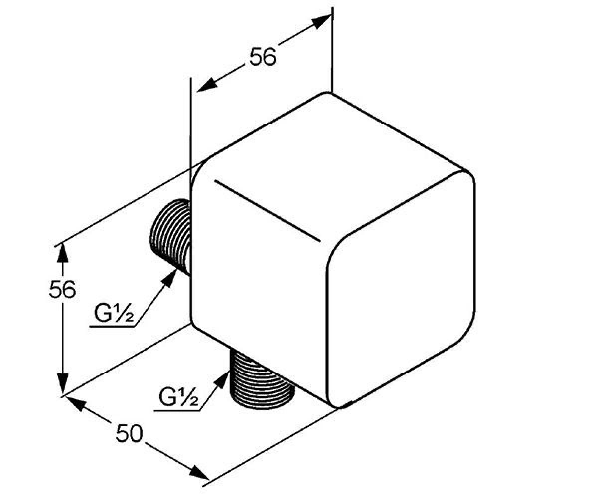 Подключение шланга KLUDI ESPRIT 565410540