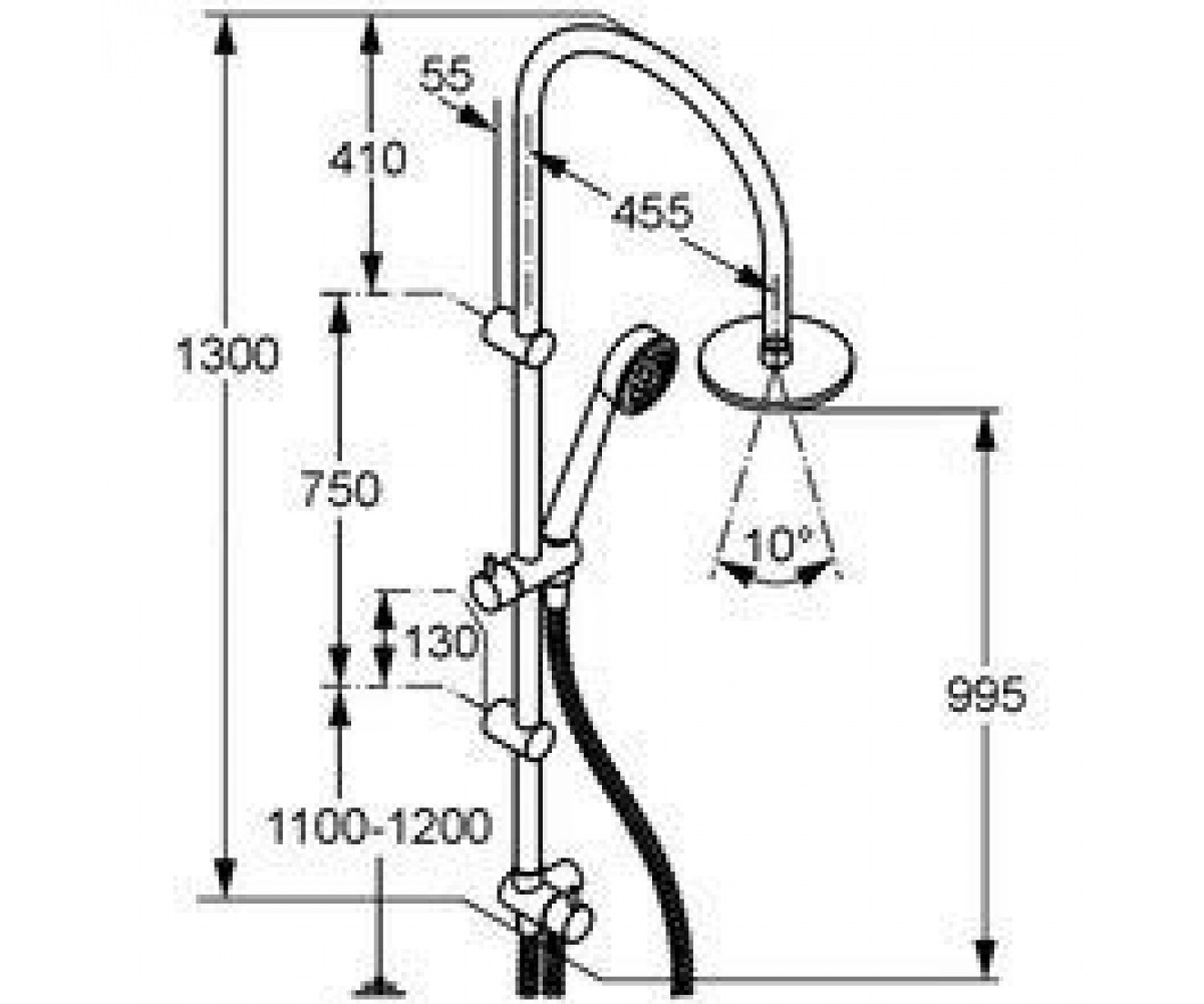 Душевой набор KLUDI DUAL SHOWER SYSTEM 6167705-00