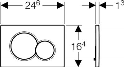 Кнопка смыва GEBERIT Sigma 01 глянцевый хром 115.770.21.5