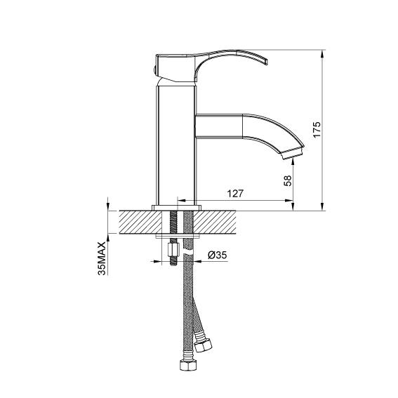 Смеситель для раковины Devit Graphics 16150126P
