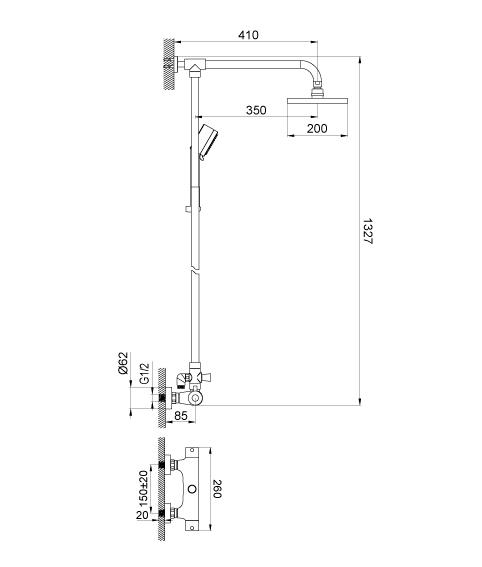 Душевая система Devit Legend 67016TSPTJ7