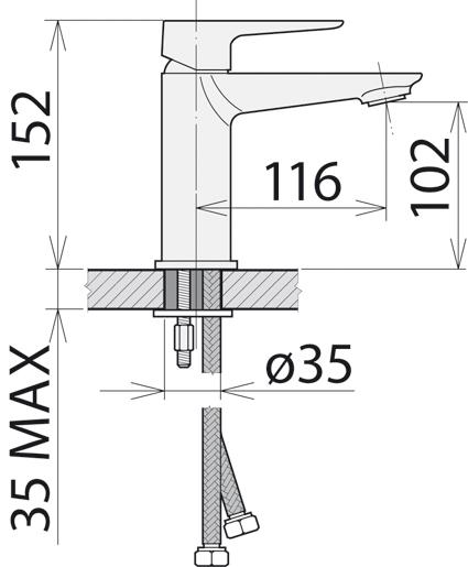 Смеситель Welle »Gerda» для раковины WEV16461KX