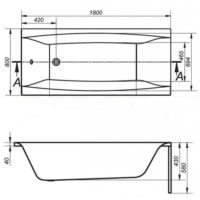 Ванна акриловая Cersanit Virgo 180 S301-103
