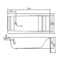 Ванна акриловая Cersanit Virgo 160 S301-046