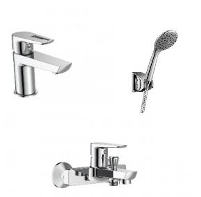 Набор смесителей для ванны IMPRESE Breclav 10245+05245+1115+S023+W100SL1 СP