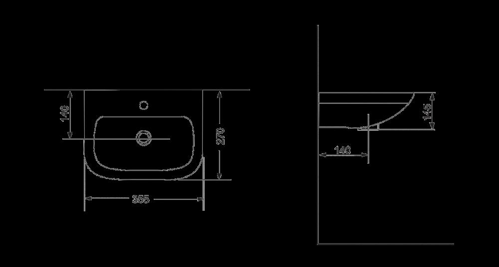 Раковина для монтажа на стену Devit Small 1010135