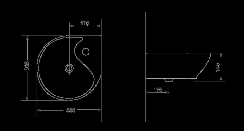 Раковина для монтажа на стену Devit Small 1011135