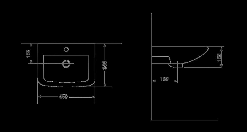 Раковина для монтажа на стену Devit Small 1013135