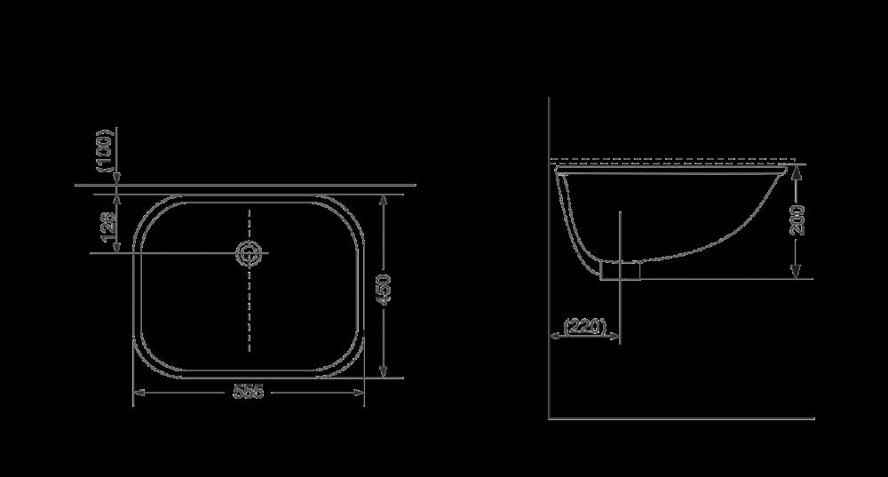 Раковина на столешницу Devit Quadra 1610132