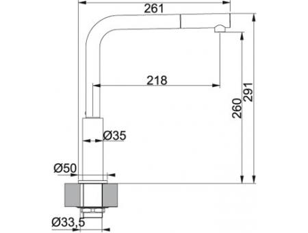 Кухонный смеситель FRANKE NEPTUNE 115.0150.242