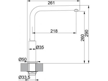 Кухонный смеситель FRANKE NEPTUNE 115.0150.238