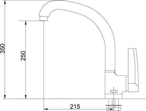 Кухонный смеситель FRANKE ATMOSFERA 115.0154.316