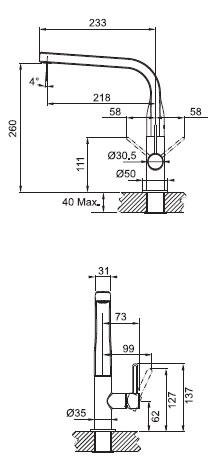 Кухонный смеситель FRANKE SINOS 115.0260.566