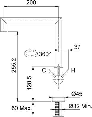 Кухонный смеситель FRANKE LIBERTY 115.0263.750