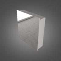 Зеркальный шкаф Буль-Буль MC-700 (ШЗ-700w) белый