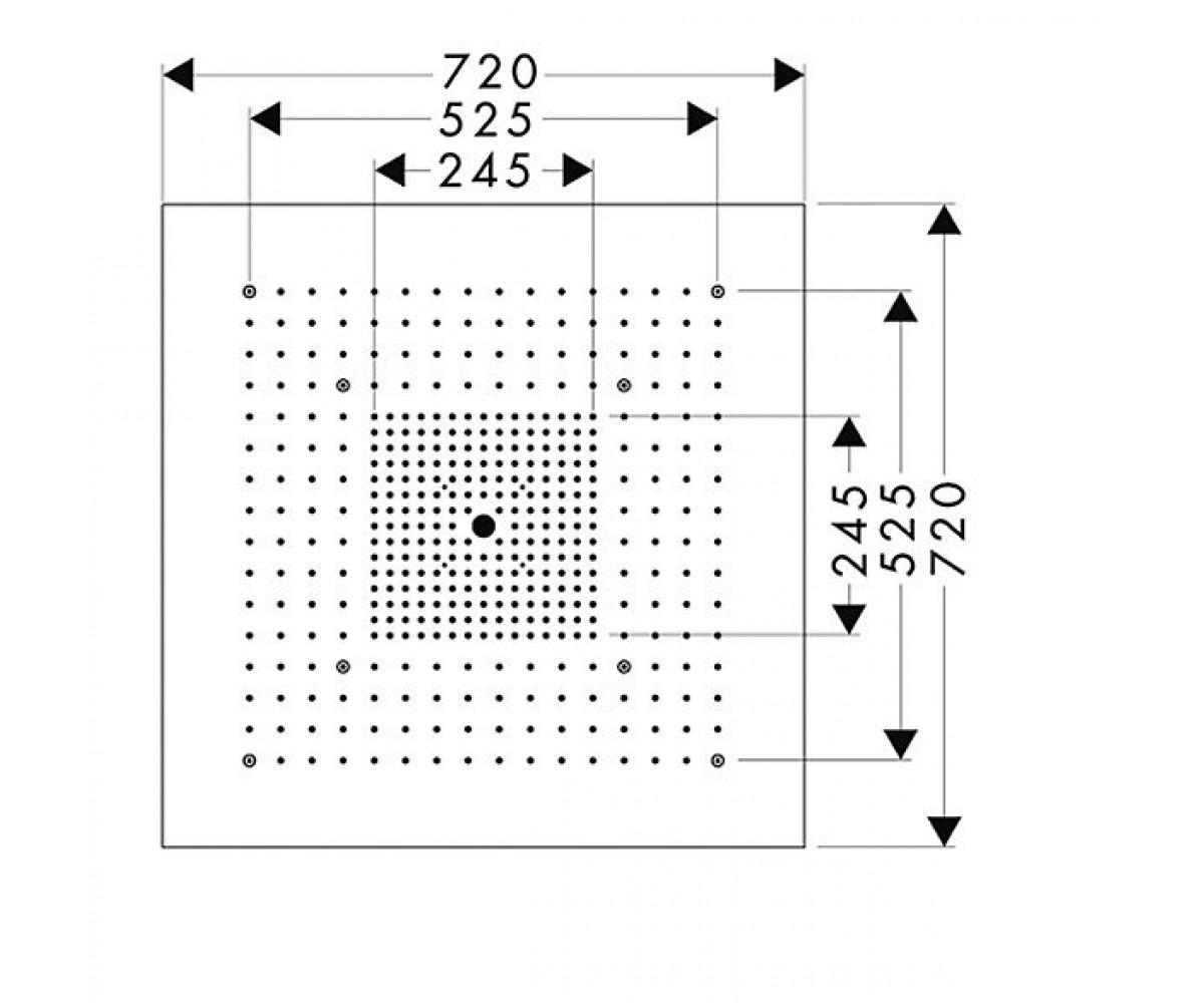 Верхний душ AXOR Starck 10625800