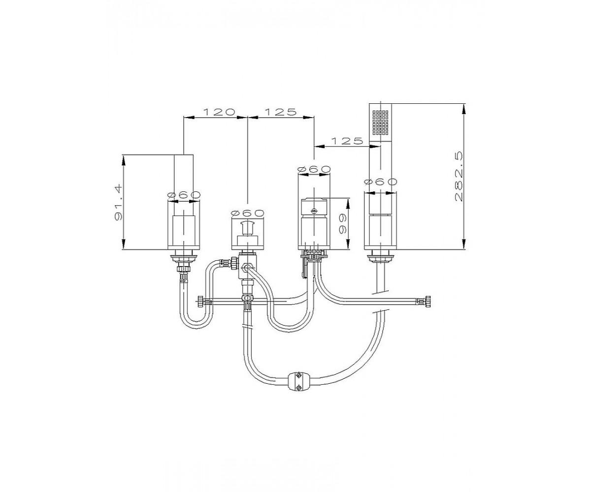 Смеситель для ванны ECA ELEA М 061 102101056