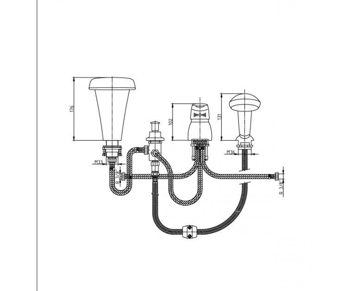 Смеситель для ванны ECA MIX 2000 М 139 102101059