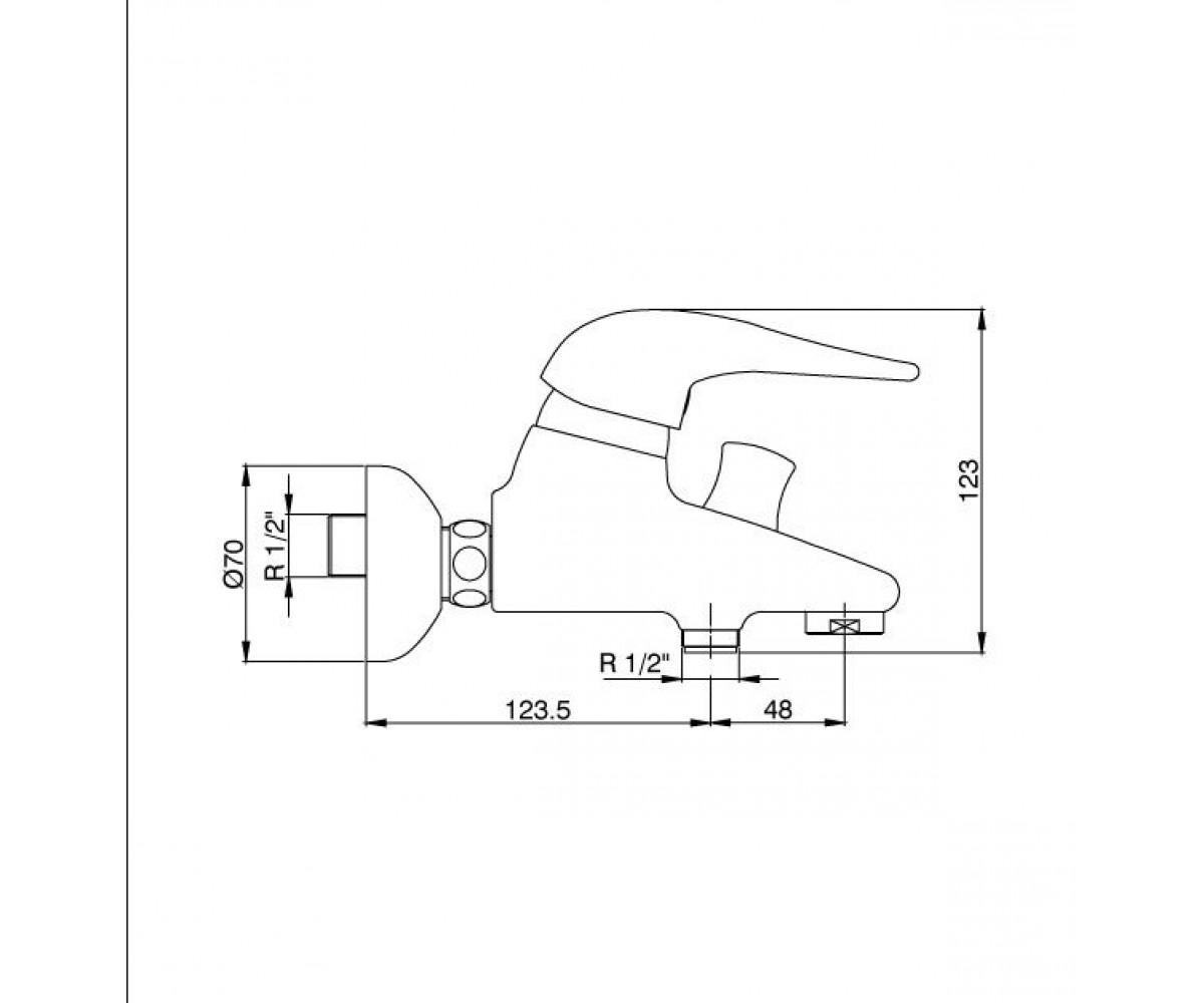 Смеситель для ванны ECA MIX 2000 М 135 102102226