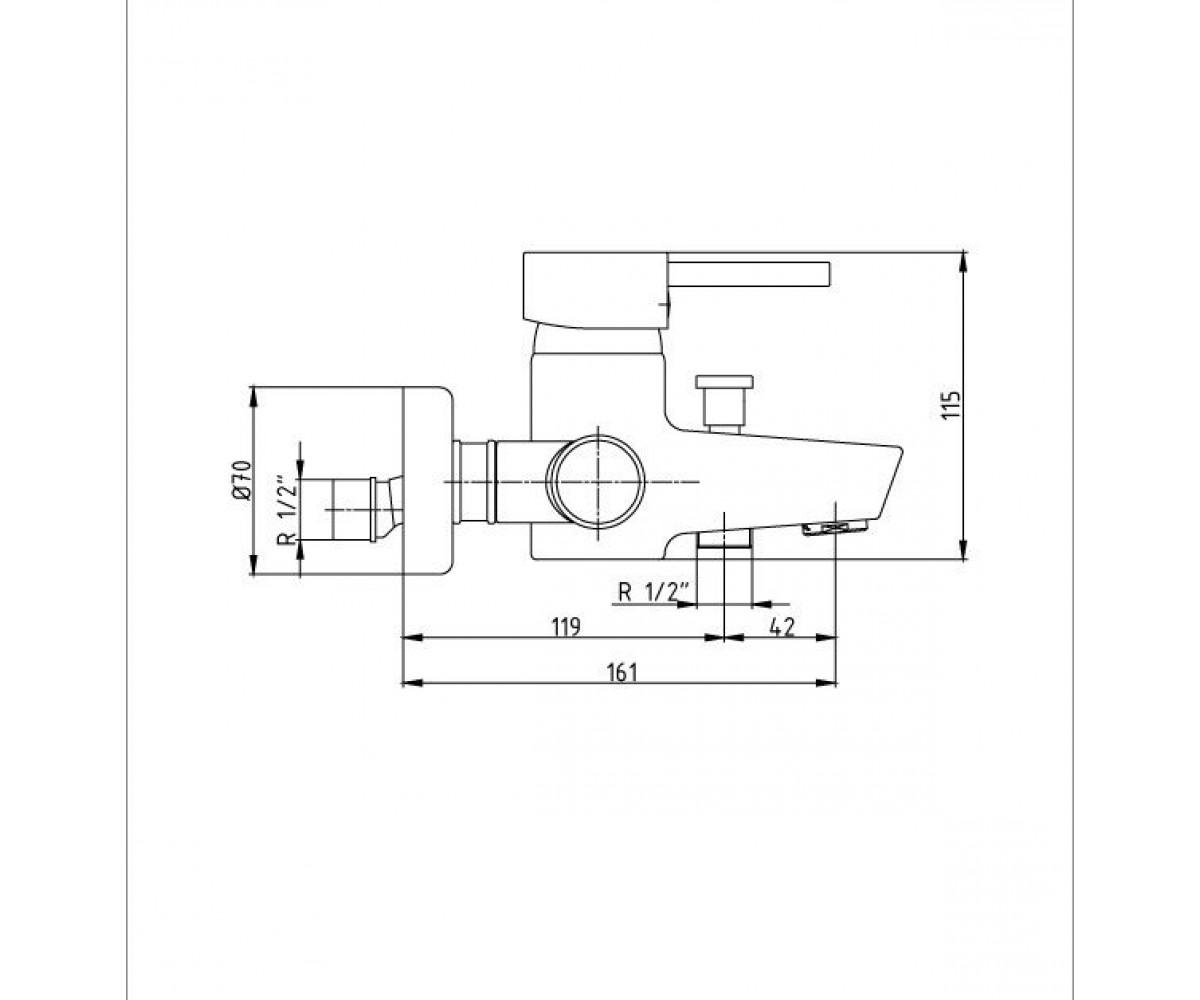 Смеситель для ванны ECA Mix Minimal М 385 102102280