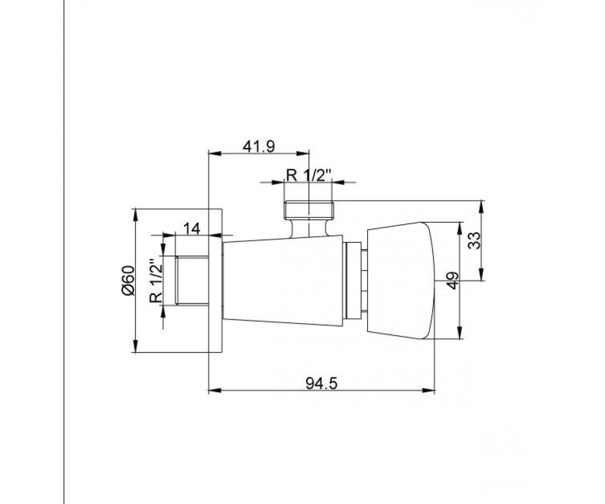 Душевой вентиль E.C.A SELF CLOSING М 640 102102292