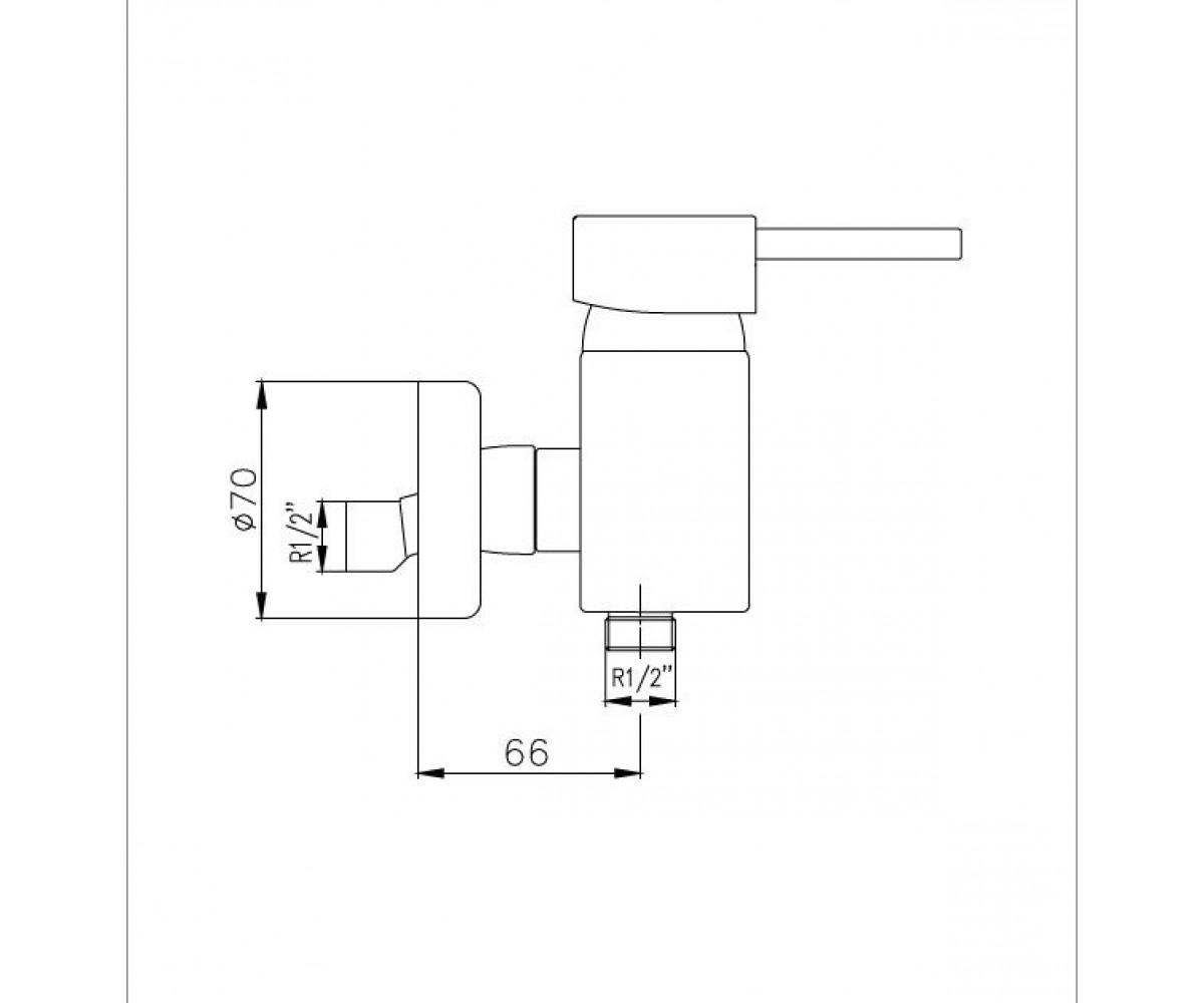 Смеситель для душа ECA Mix Minimal М 390 102102307