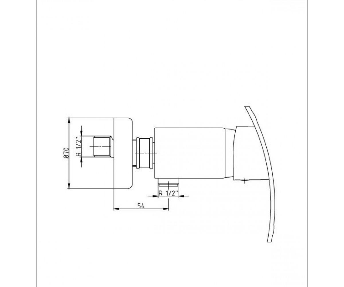 Смеситель для душа ECA MIX CUBIC М 165 102102335