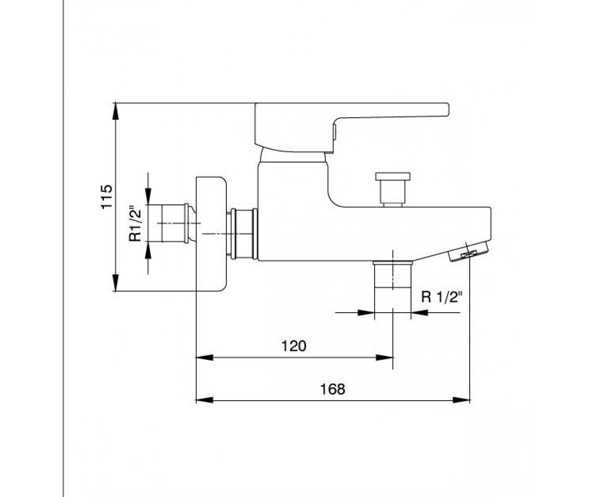Смеситель для ванны ECA TOLOSA М 310 102102346