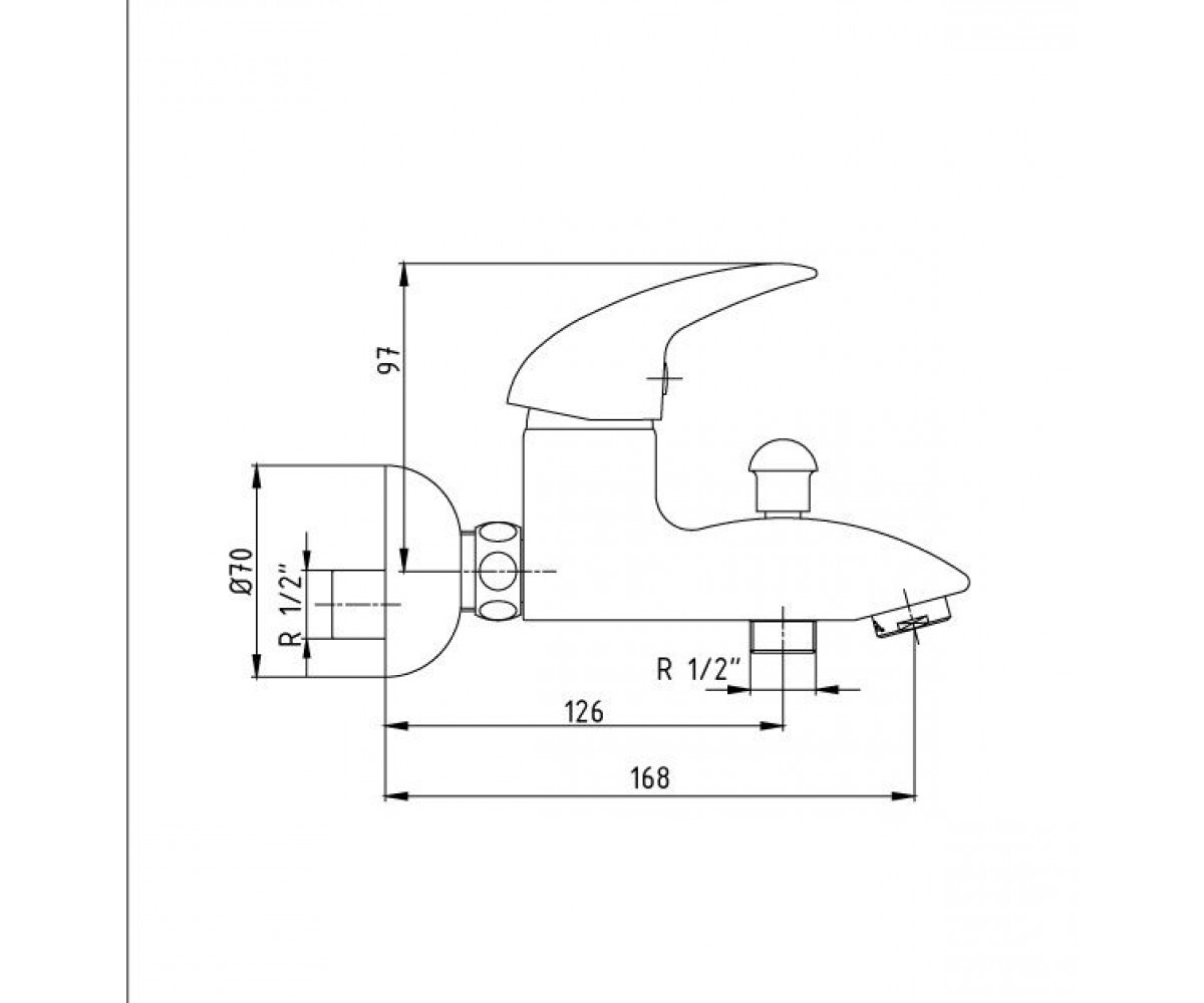 Смеситель для ванны ECA MIX P М 185 102102354