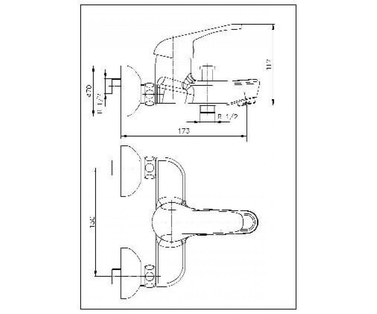 Смеситель для ванны ECA DORE М 610 102102384