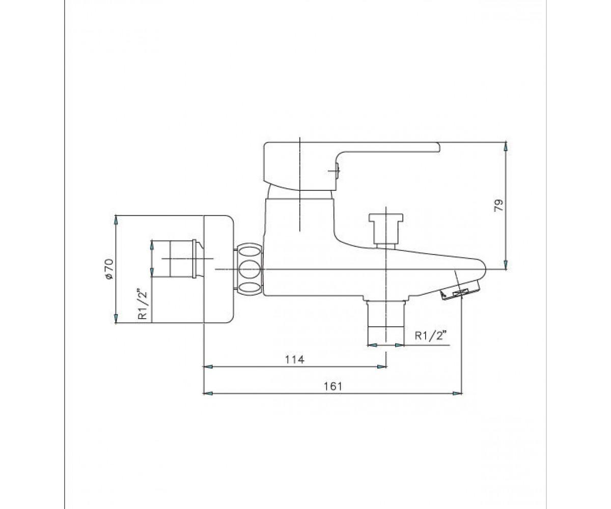 Смеситель для ванны ECA Vera М 785 102102386