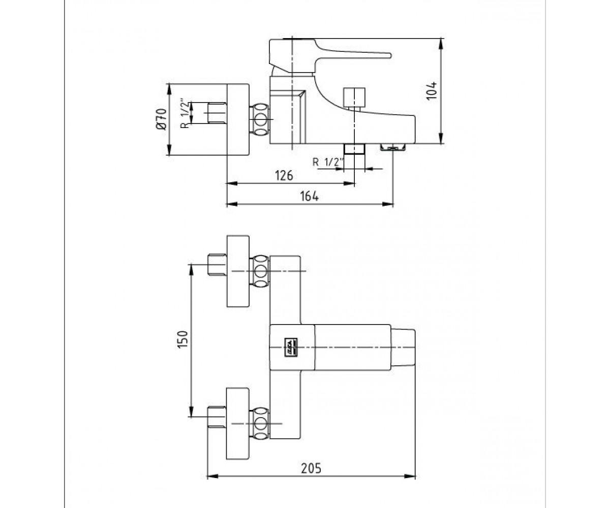 Смеситель для ванны ECA CARO М 860 102102424