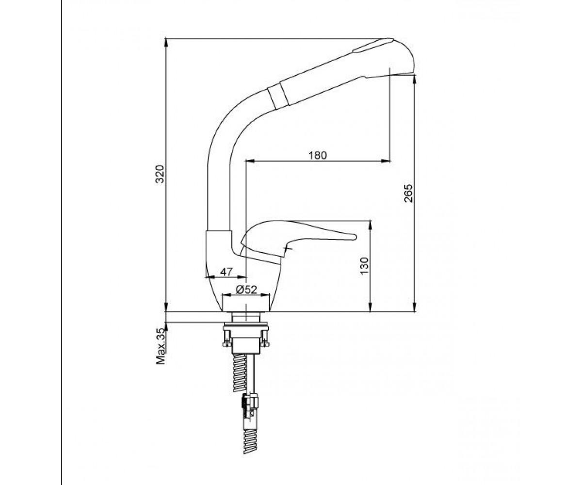 Смеситель для кухни ECA MIX 2000 М 131 102108393