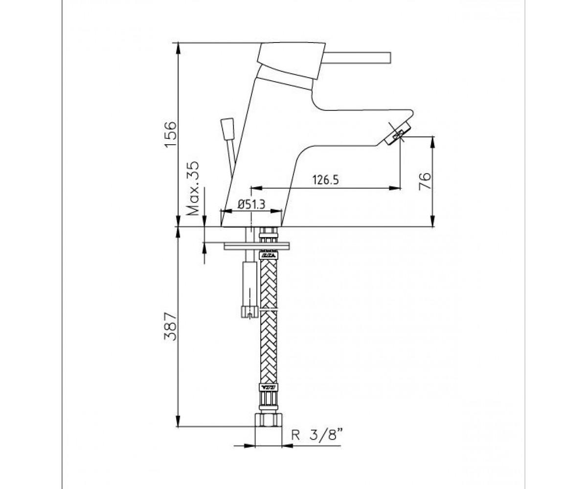 Смеситель для раковины E.C.A Mix Minimal М 375 102108418