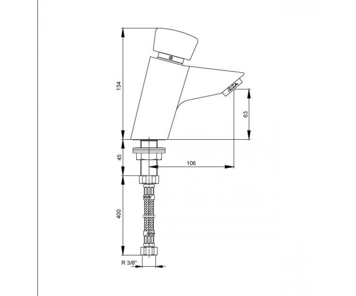 Кран дозатор E.C.A SELF CLOSING TAPS М 625 102108625