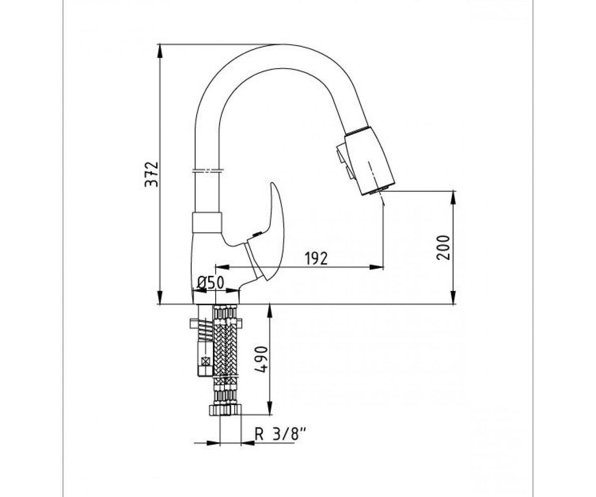 Смеситель для кухни ECA MIX P М 182 102108631