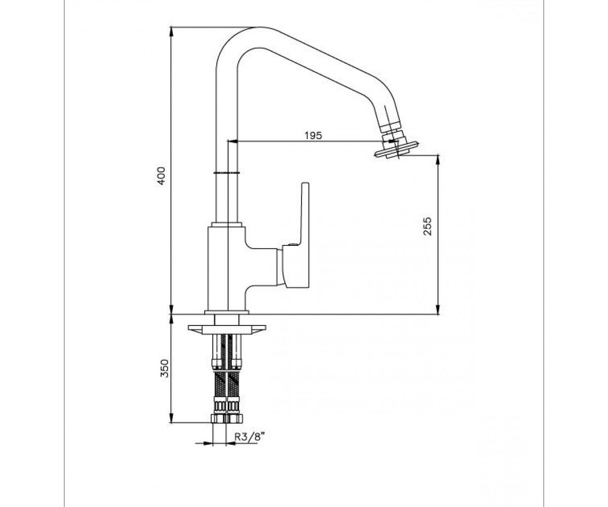 Смеситель для кухни ECA TOLOSA М 305 102108633