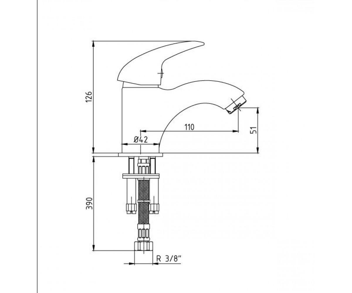 Смеситель для раковины E.C.A MIX P М 175 102108654