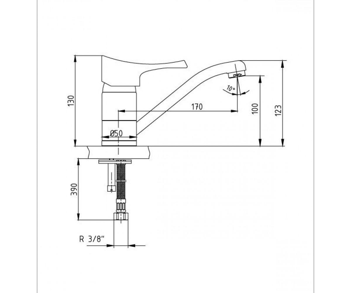 Смеситель для кухни ECA LOTUS M 105 102108662