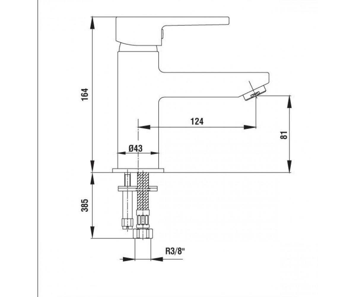Смеситель для раковины E.C.A TOLOSA М 300 102108686