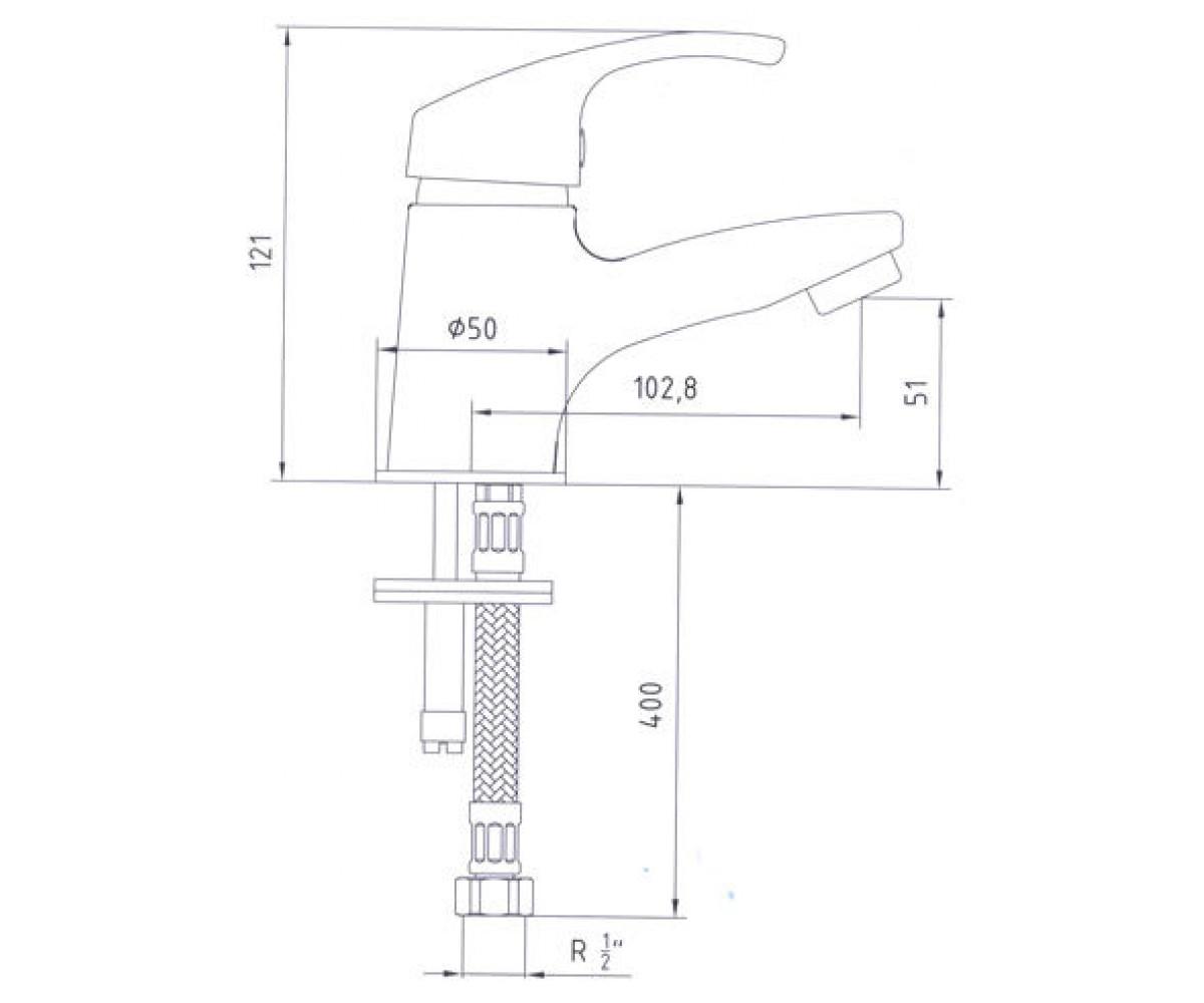 Смеситель для раковины E.C.A SOLE М 725 102108767