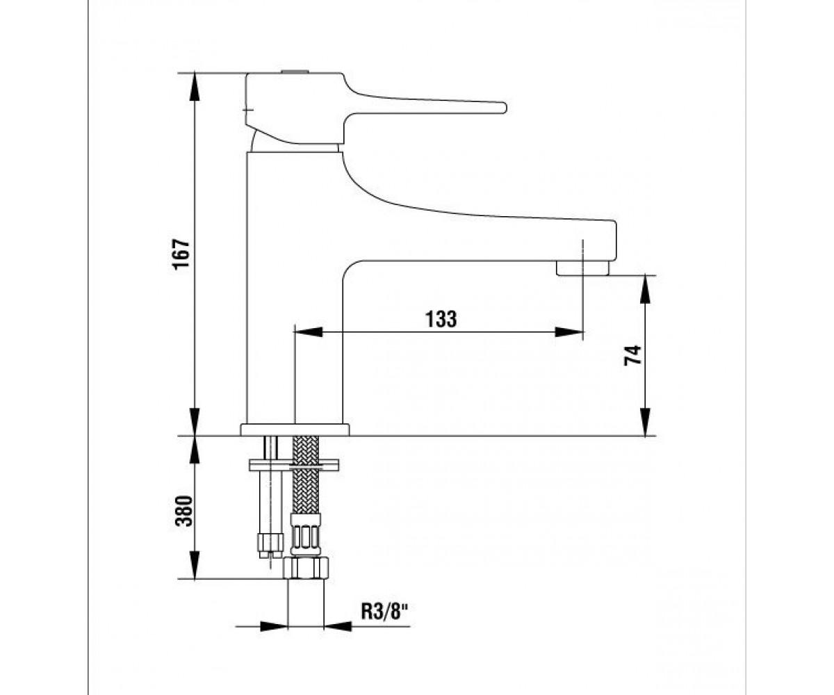 Смеситель для раковины E.C.A CARO М 850 102108892