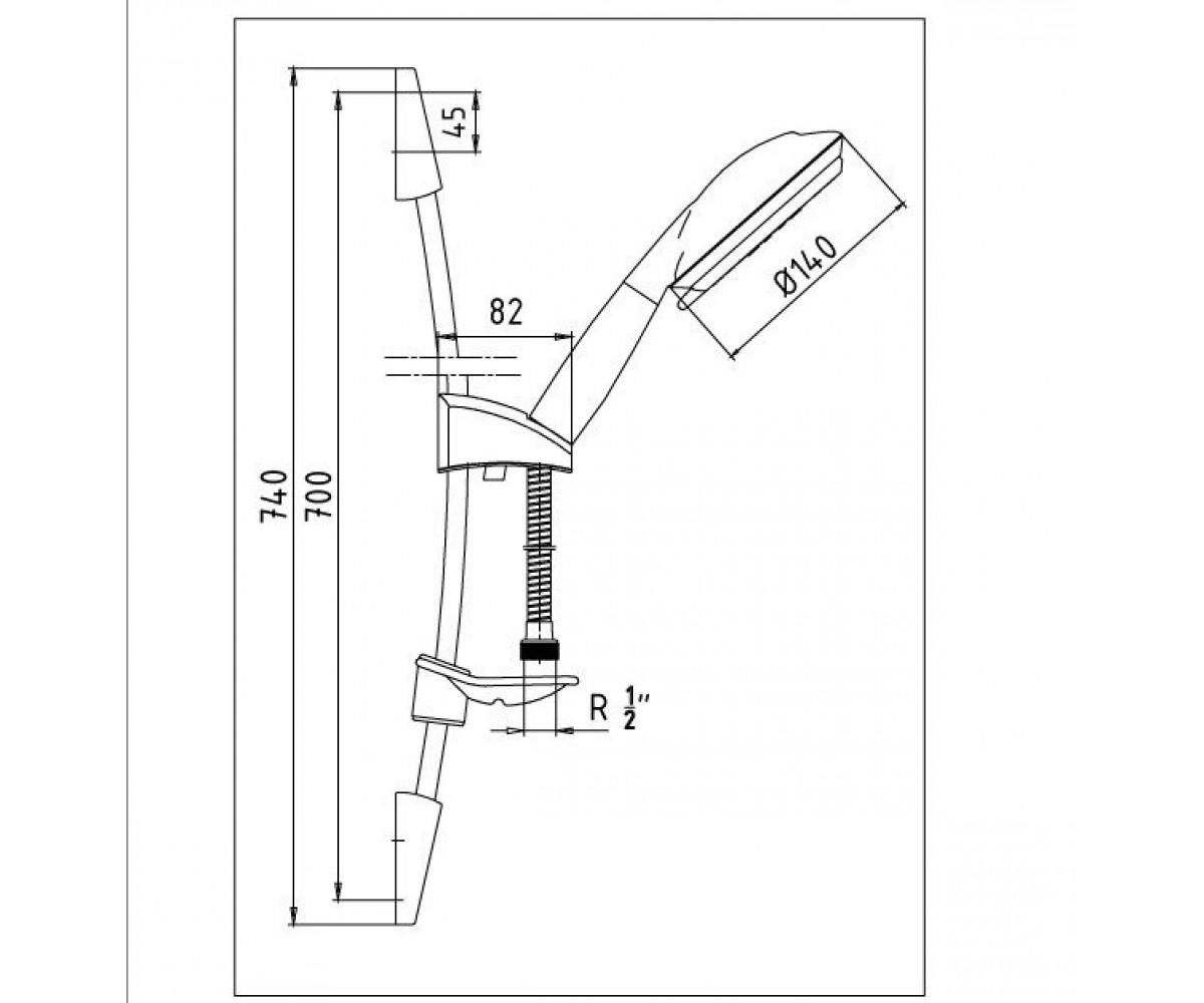 Душевой набор E.C.A. ARDA М 013 102117311