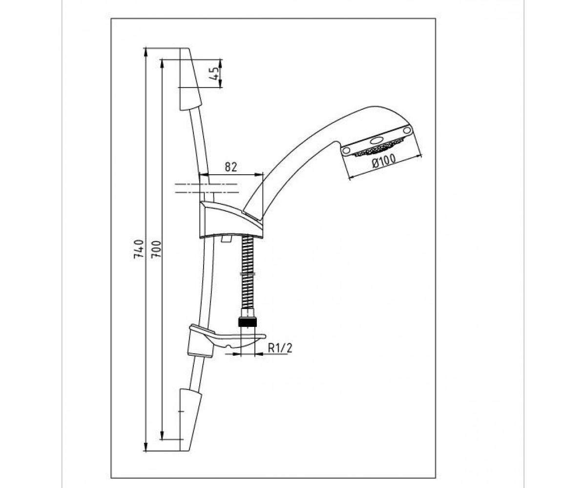 Душевой набор E.C.A AKSU М 011 102117316