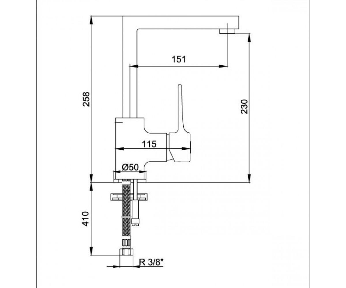 Смеситель для кухни ECA CARO М 855 102118002