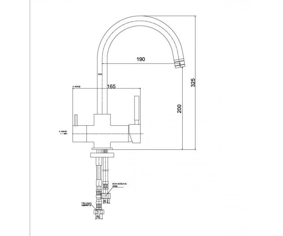 Смеситель для кухни ECA DUAL FLOW М 517 102118005