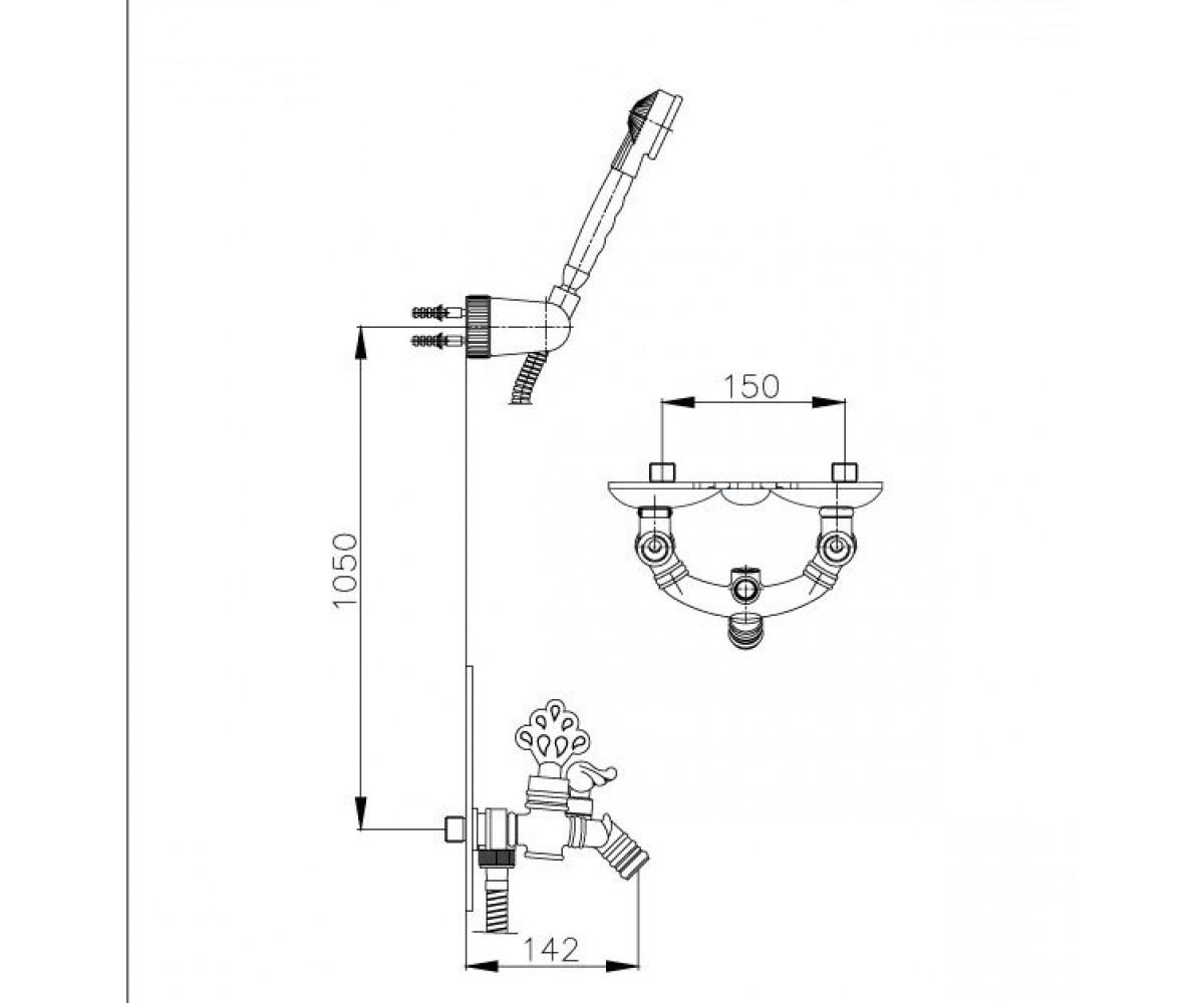 Смеситель для ванны ECA OTTOMAN М 411 102202001