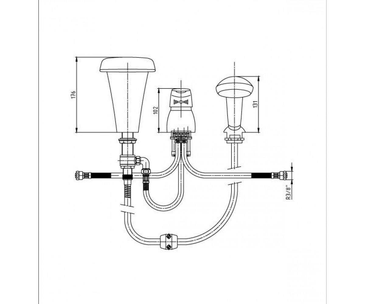 Смеситель для ванны ECA MIX 2000 М 136 402101031